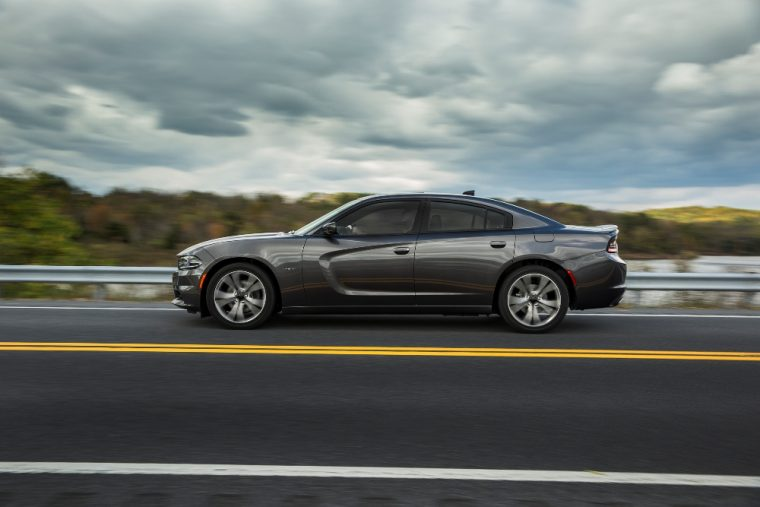 The 2016 Dodge Charger comes standard with 17-inch aluminum wheeks