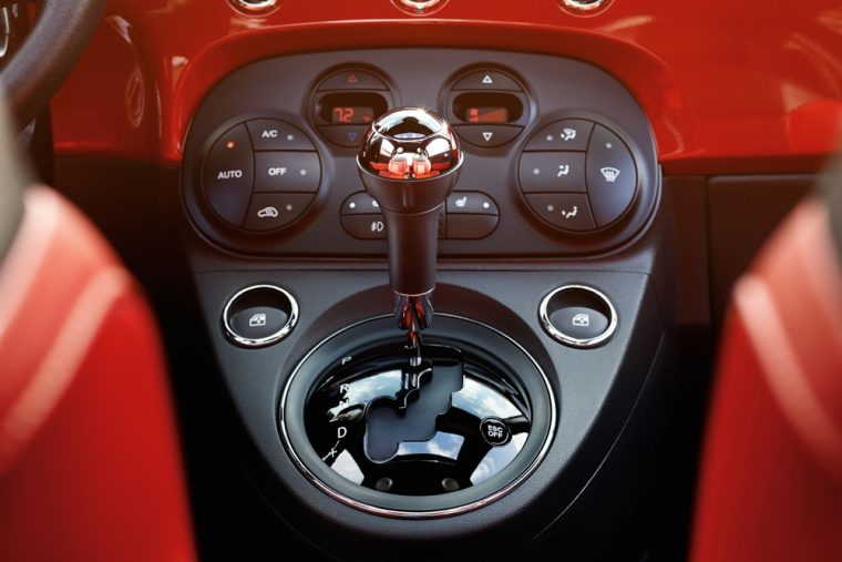 The 2016 Fiat 500 features a USB port in glove box