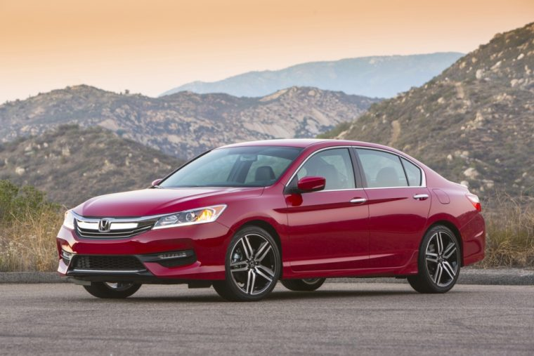The 2016 Honda Accord sedan features a starting MSRP of $22,105
