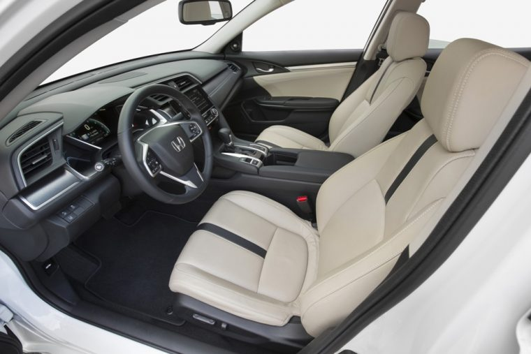 The 2016 Honda Civic sedan comes standard with Illuminated steering wheel-mounted control