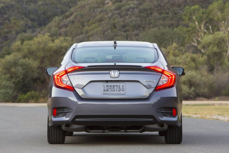 The 2016 Honda Civic sedan comes standard with LED taillights