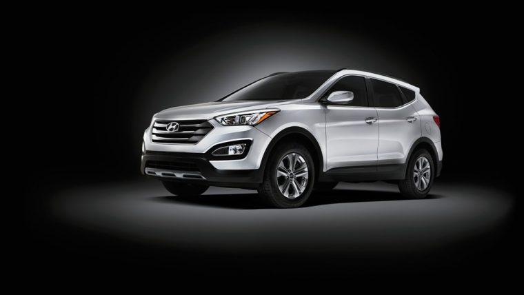 Exterior of the practical 2016 Hyundai Santa Fe Sport