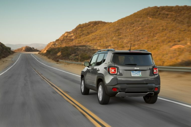 2016 Jeep Renegade Rear End Driving