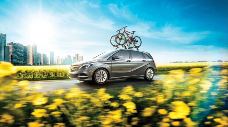 LED brake lights come standard on the 2016 Mercedes-Benz B-Class Electric Drive