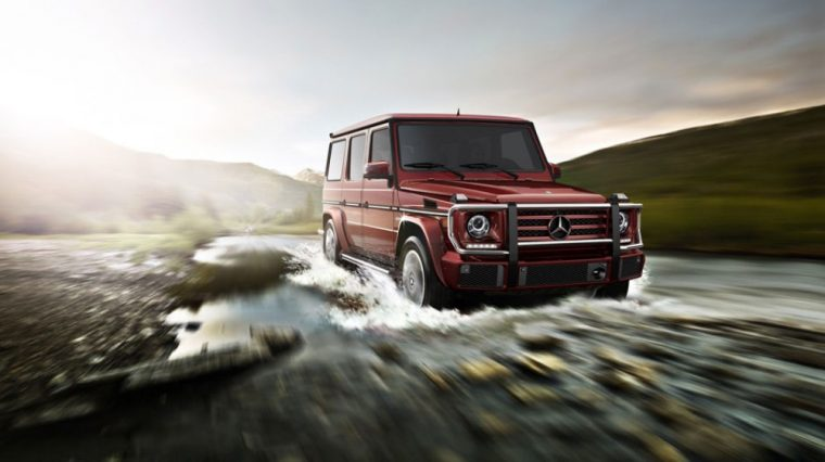 The 2016 Mercedes-Benz G-Class features a 4.0-liter biturbo V8 and seven-speed automatic