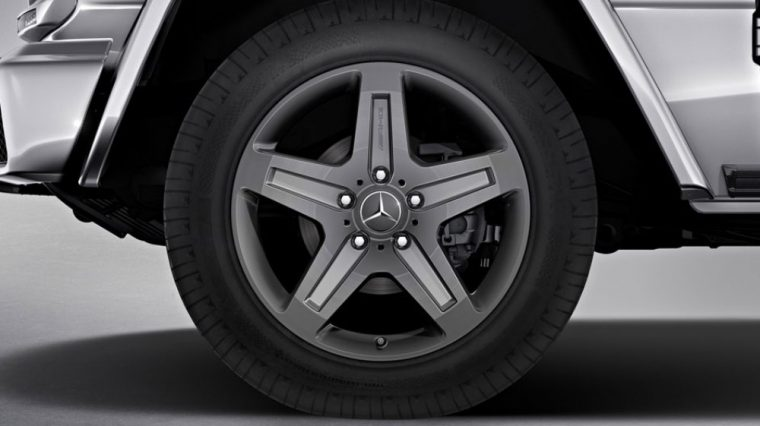 The 2016 Mercedes-Benz G-Class comes standard with all-season tires