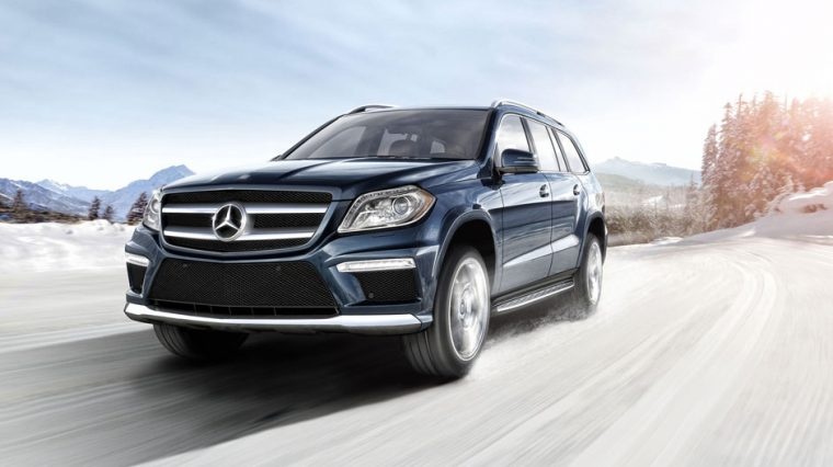 The 2016 Mercedes-Benz GL-Class features LED daytime running lights