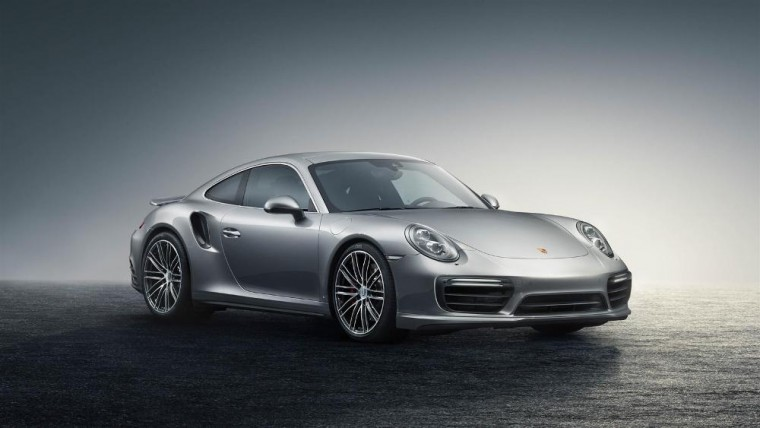 The 2016 Porsche 911 Turbo features a 3.8-liter twin-turbo engine good for 520 horsepower