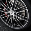The 2016 Porsche 911 Turbo features forged alloy wheels