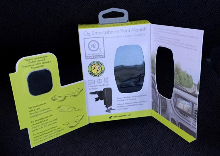 Bracketron O2 Earth Elements Smartphone Vent Mount Packaging