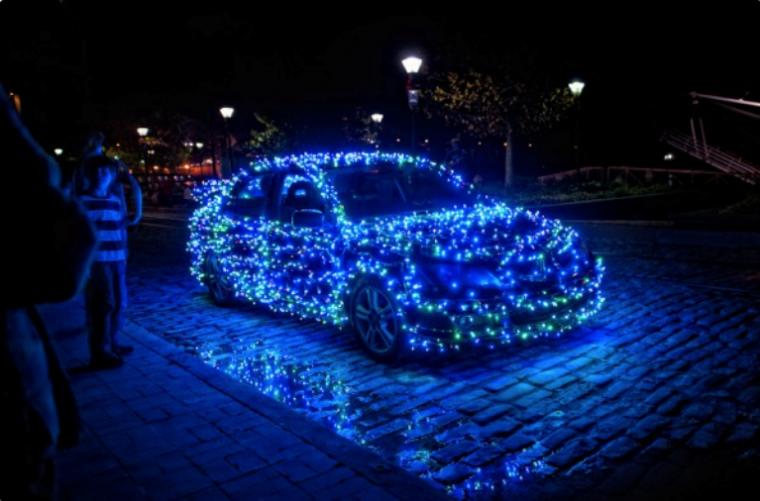 Car Decoration Blue Lights