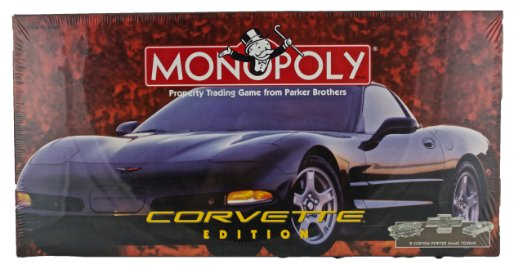 Chevy Corvette Edition Monopoly board game