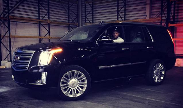 UFC chamion Conor McGregor added this 2016 Cadillac Escalade to his car collection