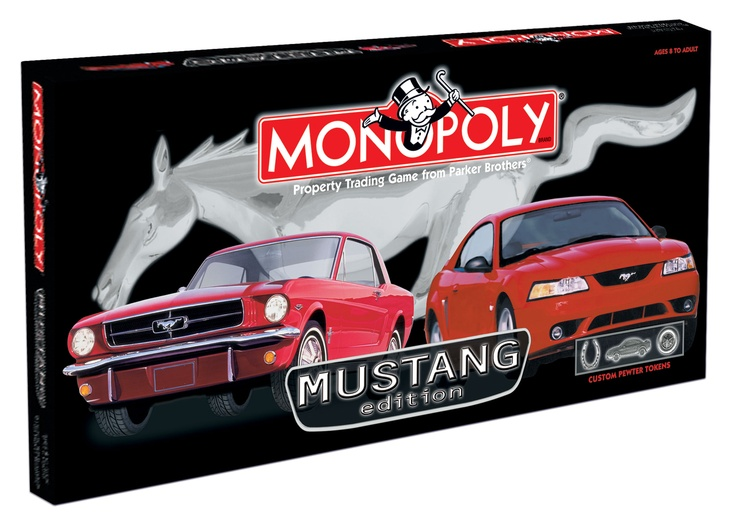 Ford Mustang Edition Monopoly board game