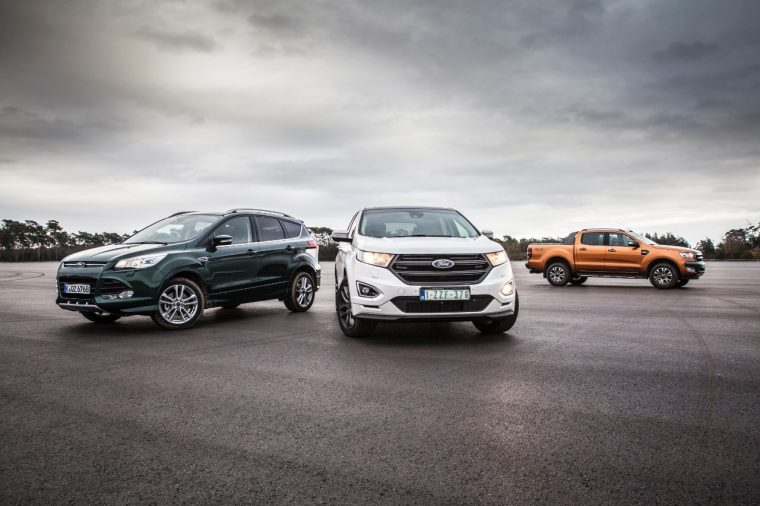 Ford Kuga, Edge, and Ranger