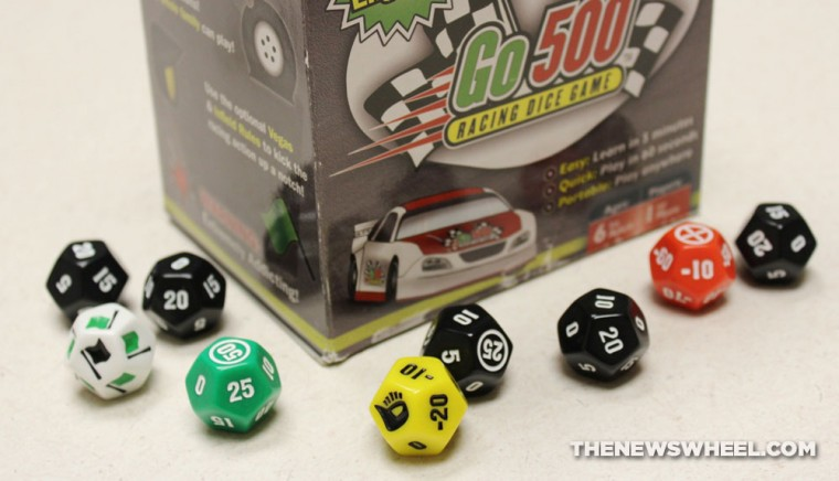 Go500 racing dice game review box