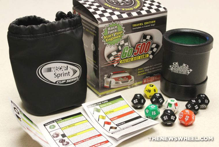 Go500 racing dice game review components