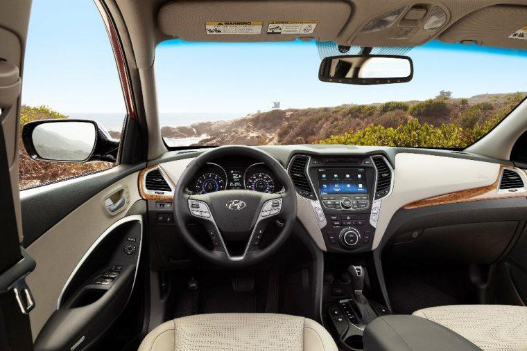 Interior of the roomy 2016 Hyundai Santa Fe Sport