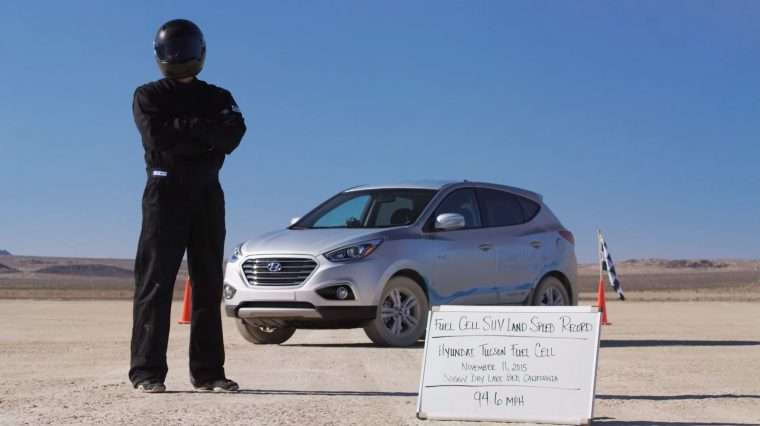 Hyundai Tucson SUV sets land speed record for hydrogen powered SUV