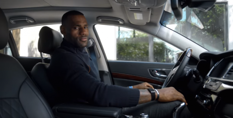 There's a new Kia commercial staring LeBron James where he says he actually does drive the K900 sedan to Cavalier games