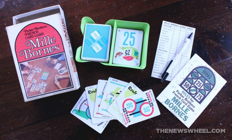 Mille Bornes French Card Game Review Components