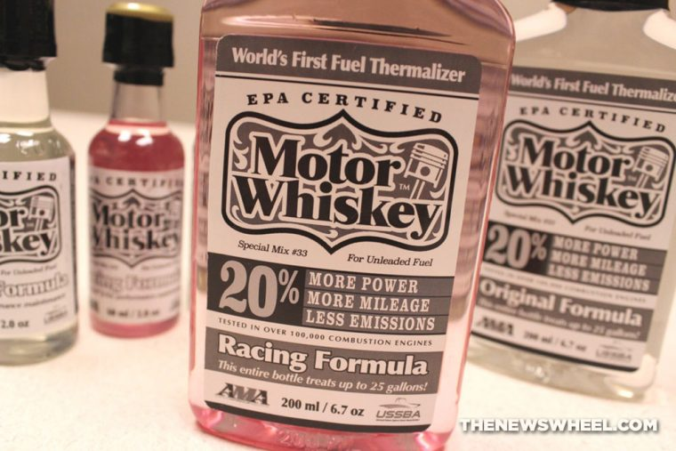 Motor Whiskey fuel additive thermalizer review label