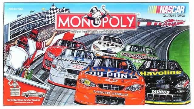 NASCAR Racing Edition Monopoly board game