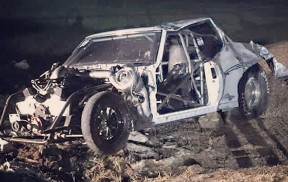 Street Outlaws Big Chief Car Crash Video