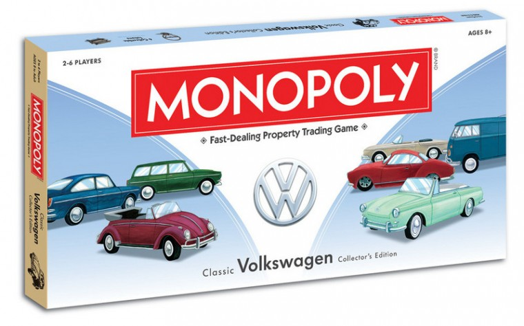 VW Volkswagen Edition Monopoly board game