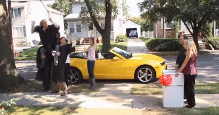 2012 Chevrolet Camaro Happy Graduate super bowl commercial