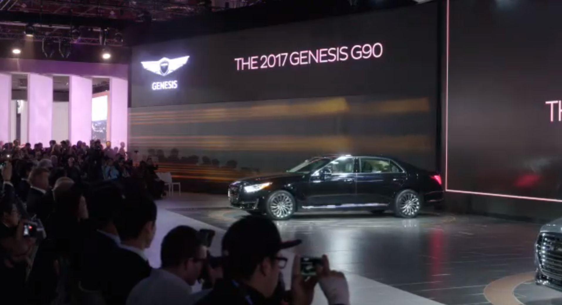 New Hyundai Genesis >> Genesis G90 Debut Takes Center Stage at Hyundai's NAIAS