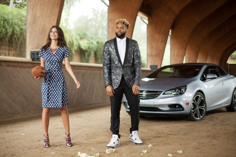 Buick's new Super Bowl commercial will include Emily Ratajkowski, Odell Beckham Jr., and the Cascada convertible