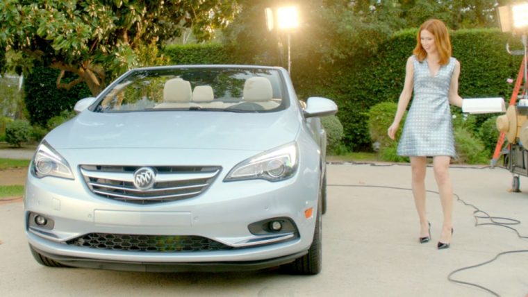 Ellie Kemper, who starred as Erin in The Office, is featured in a new web commercial for the Buick Cascada convertible