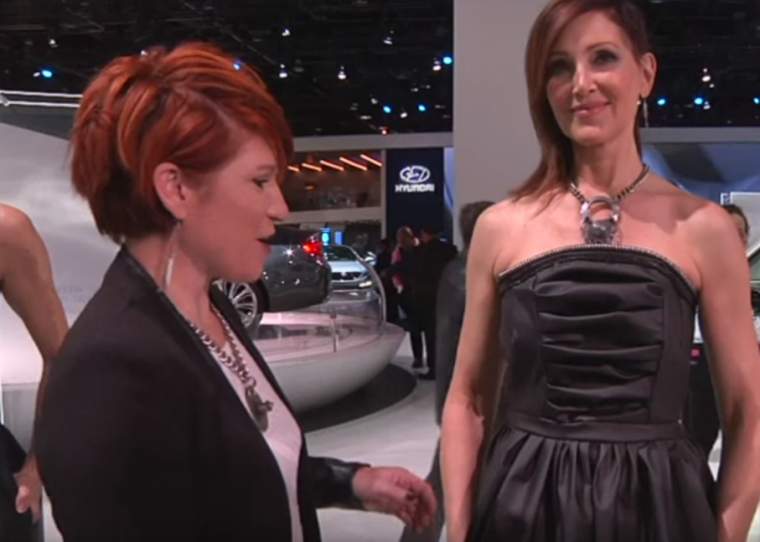 This dress were made from the same material used to create instrument panel covers