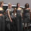 These dresses were made from the same material used to create instrument panel covers