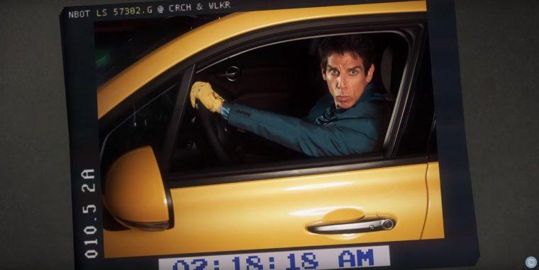 Ben Stiller as Derek Zoolander driving Fiat 500x