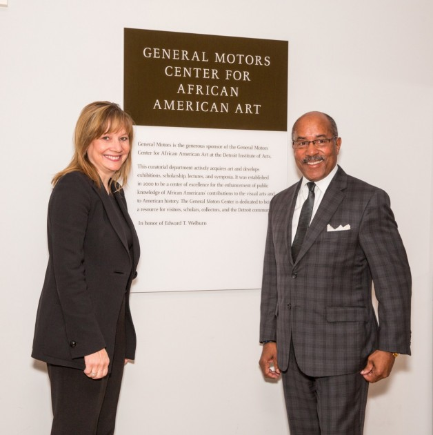 Mary Barra and Ed Welburn at GM Center for African American Arts rededication