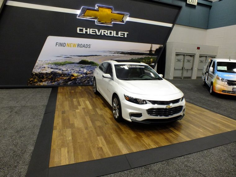 The 2016 Chevy Malibu at the Dayton Auto Show