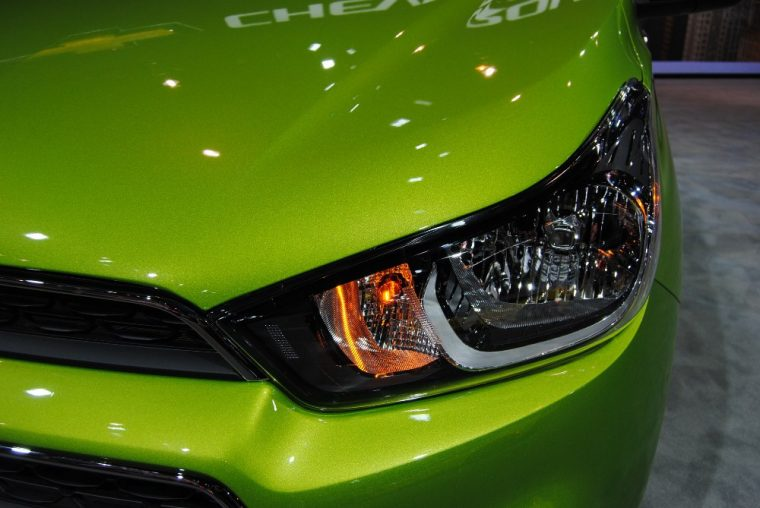 The 2016 Chevy Spark comes standard with halogen headlamps