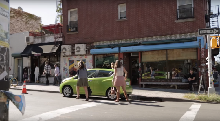 """Picture of 2016 Chevy Spark in """"Urban Movement: New Roads in NYC"""" video set in Williamsburg, Brooklyn"""