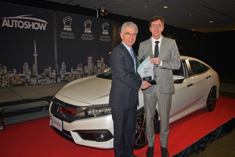 2016 Honda Civic named 2016 Canadian Car of the Year by AJAC