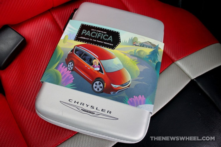 2017 Chrysler Pacifica Race to the Family Reunion board game review box