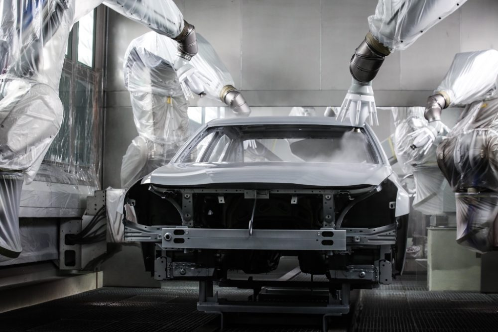 The new paint facility at the Cadillac manufacturing plant in Shanghai