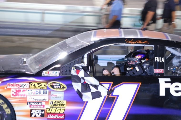 Chase Elliot has won the pole for the Daytona 500 and Denny Hamlin was the Sprint Unlimited exhibition race