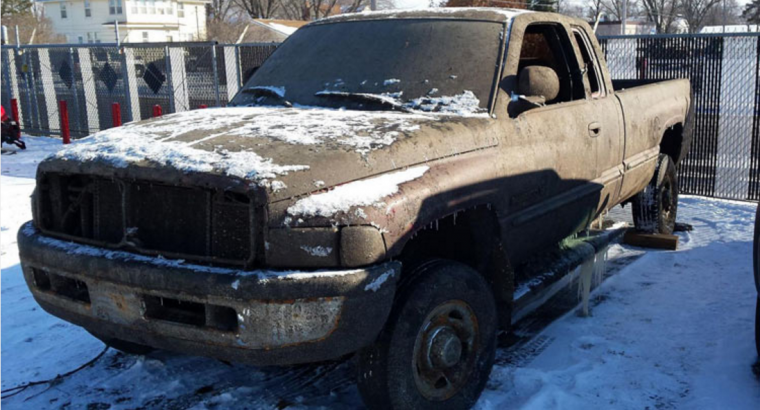 Frozen Dodge Pickup Truck