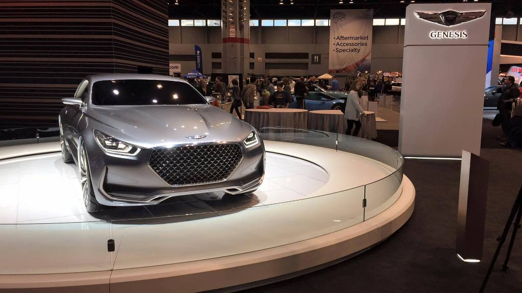 "2016 Hyundai Santa Fe >> [PHOTOS] Sexy Genesis Vision G Concept Receives ""Intimate"" Spotlight at CAS - The News Wheel"