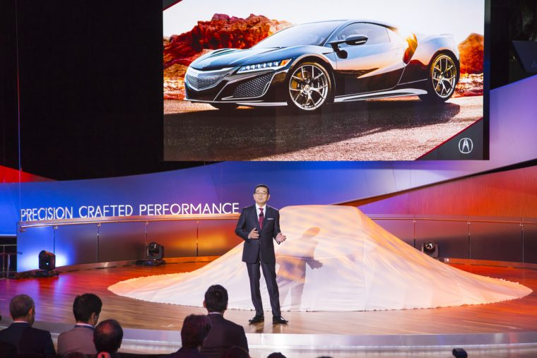 Honda CEO Takahiro Hachigo at the Detroit Auto Show