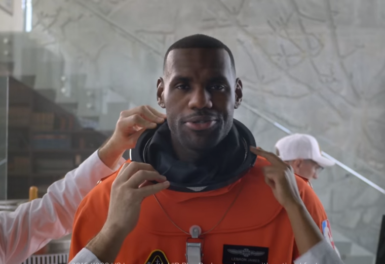 LeBron James going to outer space in newest Kia K900 commercial