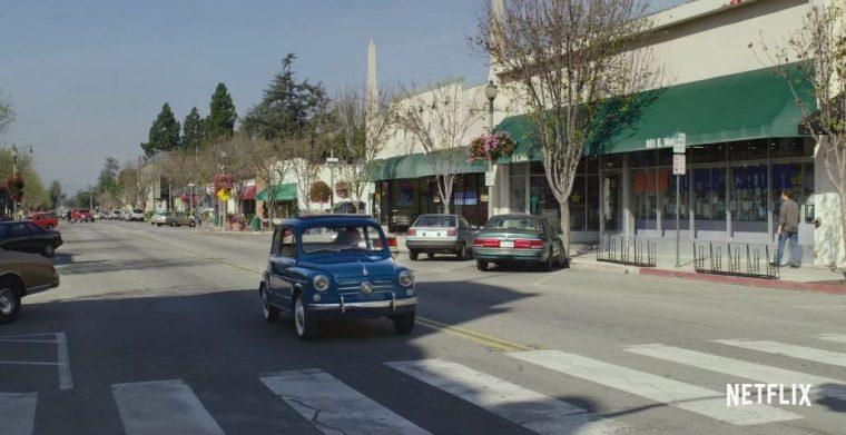 Pee-wee's Big Holiday Netflix Movie  starring Paul Reubens Fiat 600 car