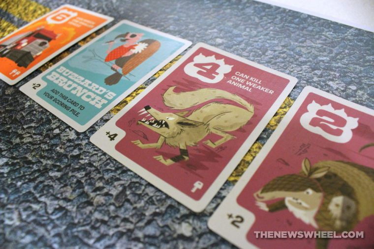 Pygmy Giraffe Roadkill Rivals card game review animals